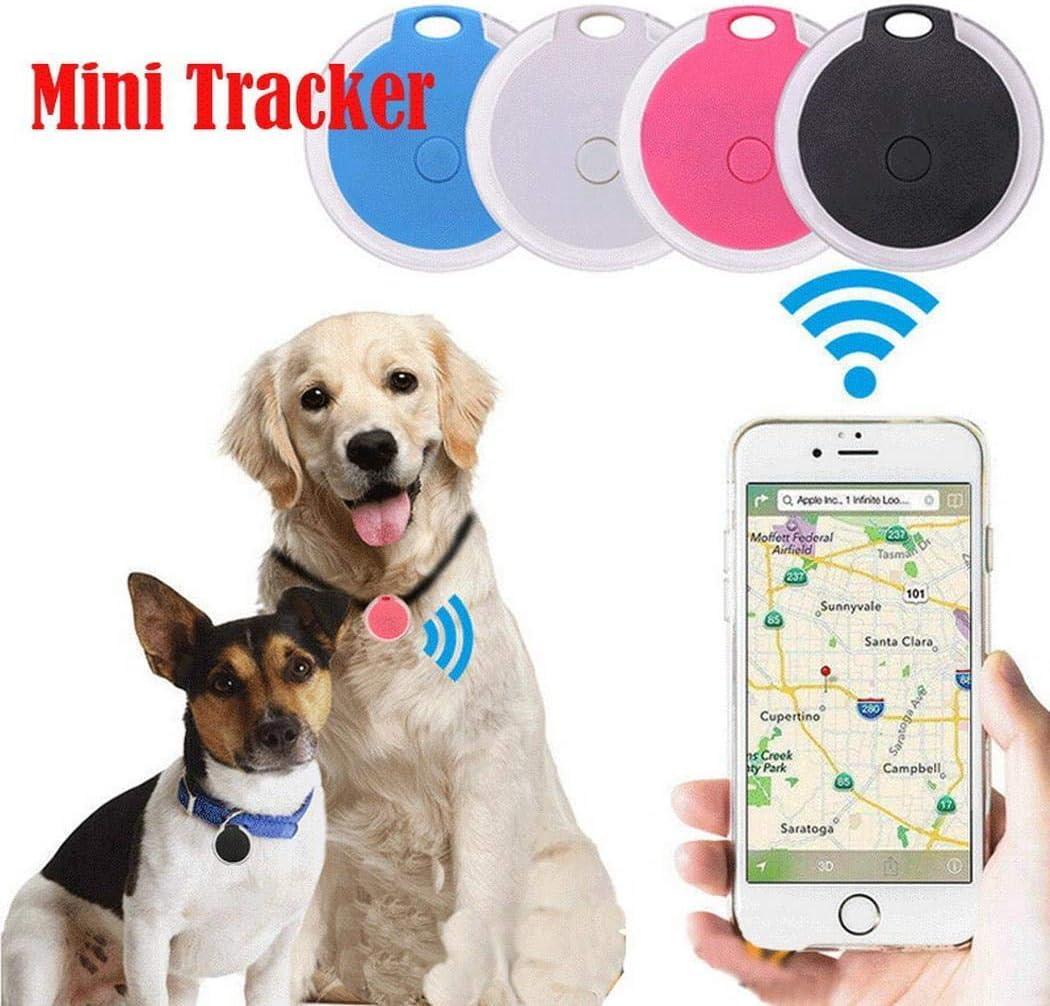 Kloius Mini Rastreador GPS portátil con Dispositivo Inteligente Anti-pérdida de Forma Redonda Bluetooth Informática