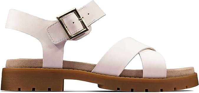Orinoco Strap Sling Back Sandals, White