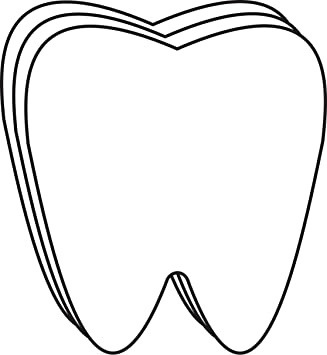 Amazon.com: Tooth Large Single Color Creative Cut-Outs, 5.5 ...