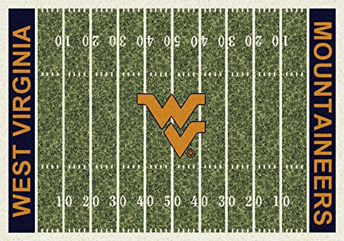 (West Virginia Mountaineers NCAA Area Rug - Home Field (5'4