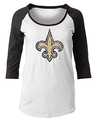 36be74b1b Image Unavailable. Image not available for. Color  New Era New Orleans  Saints Women s NFL Score 3 4 Sleeve Scoop Neck Shirt