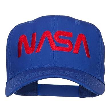 250ad873 NASA Logo Font Embroidered Cap - Blue -: Amazon.co.uk: Clothing