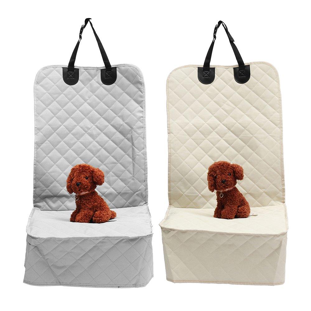 Grey Interior Accessories Car Copilot Seat Oxford Cloth Non Slip Pet Mat Travel Seat Dog Predector Carrier Cushion Pad (color  Grey)