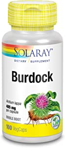 Solaray Burdock Root 485 mg | Healthy Liver, Kidney, Digestion, Circulation, Joint & Skin Support | Non-GMO & Vegan | 100 VegCaps