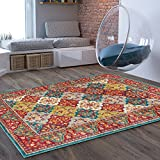 "Craft Modern Distressed Area Rug [3'11"" x 5'7""] Bohemian Transitional Eclectic Rug Soft Living Dining Room Multi Color Carpet Review"