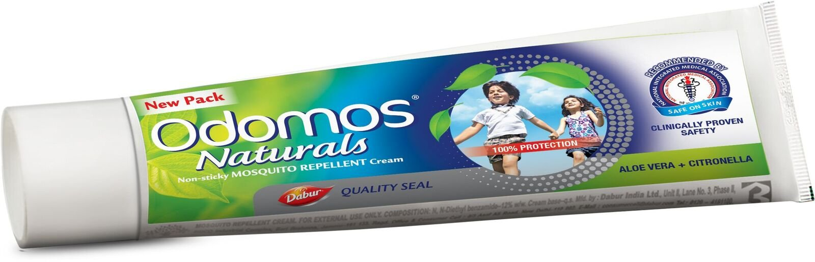Dabur Odomos Non Sticky Mosquito Repellent Herbal Cream 100 grm  Aloe Vera