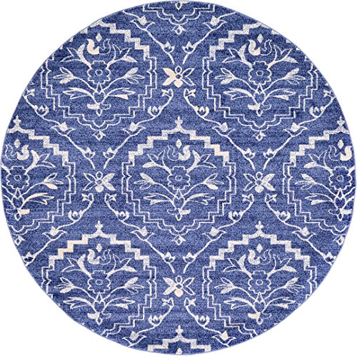 A2Z Rug Majesty Collection 8' - Feet Round Area Rugs, Blue