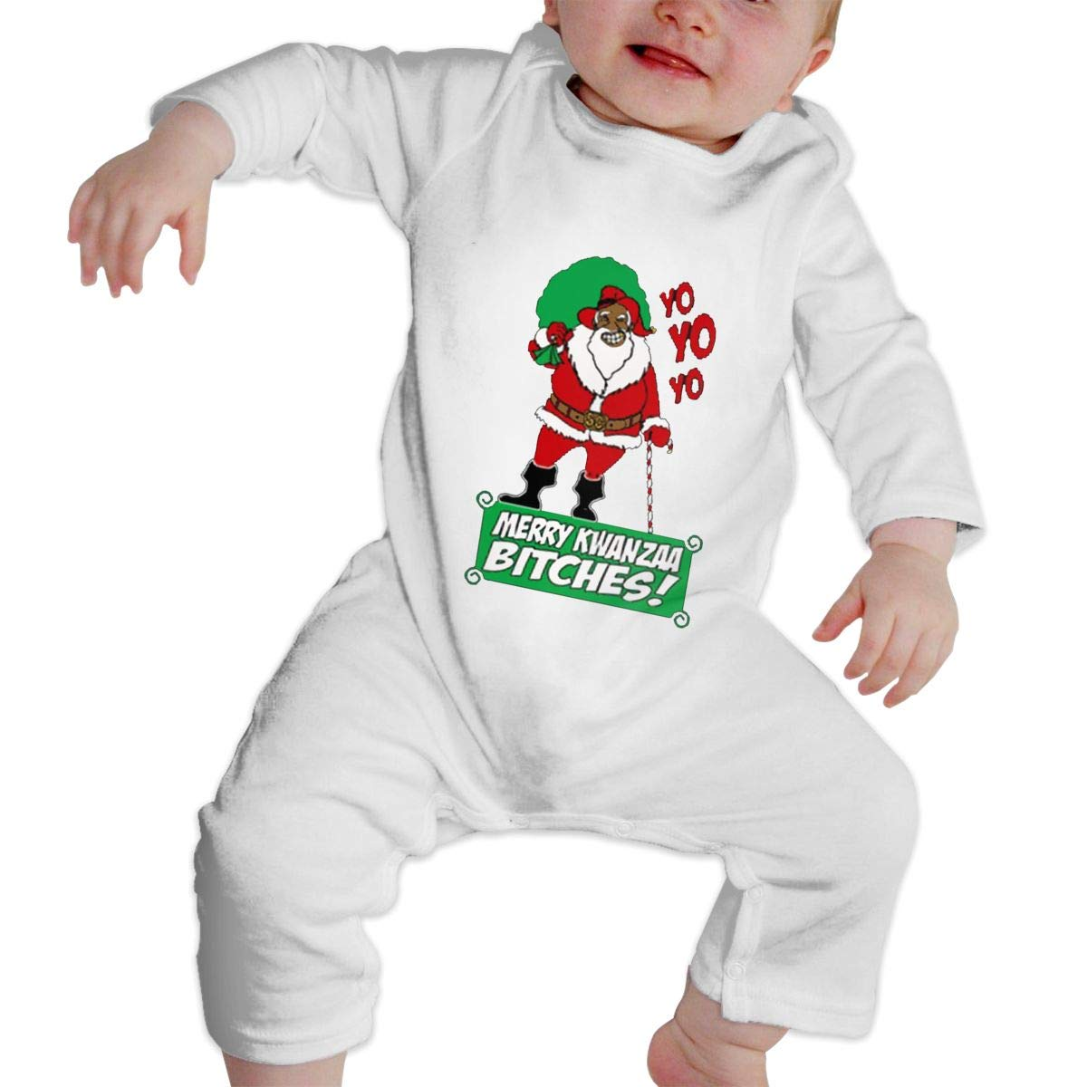 Fasenix Marry Kwanzaa Newborn Baby Boy Girl Romper Jumpsuit Long Sleeve Bodysuit Overalls Outfits Clothes