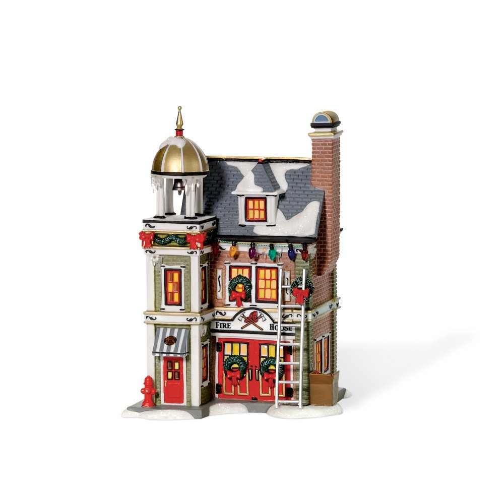 Department 56 Christmas Story Village Fire House by Department 56
