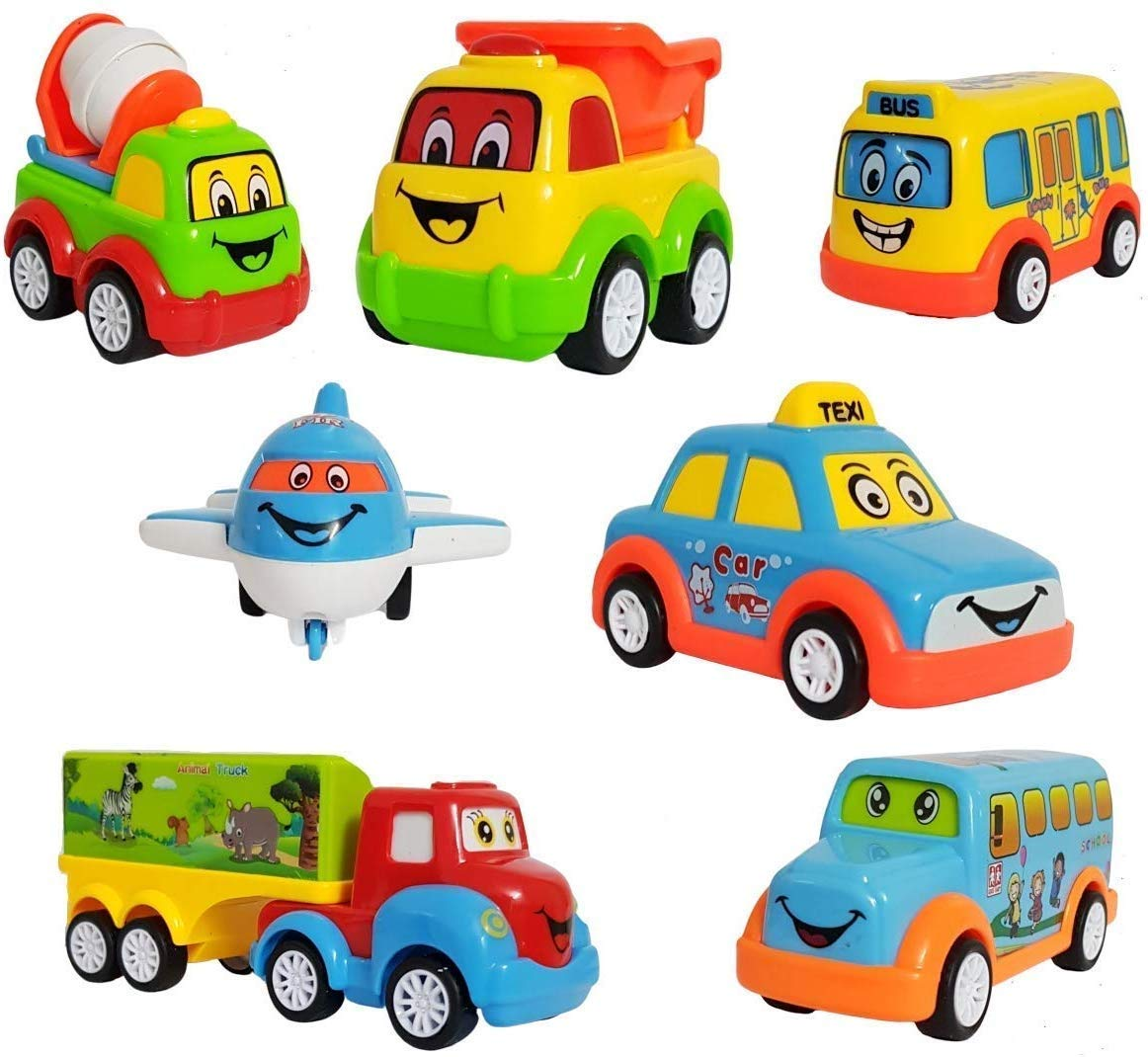 Unbreakable Pull Back Vehicles  Push and Go Crawling Toy