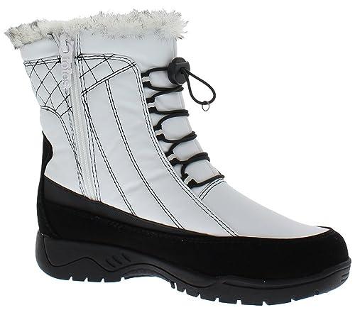 316ff83eb842 totes Womens Elle White Snow Boot