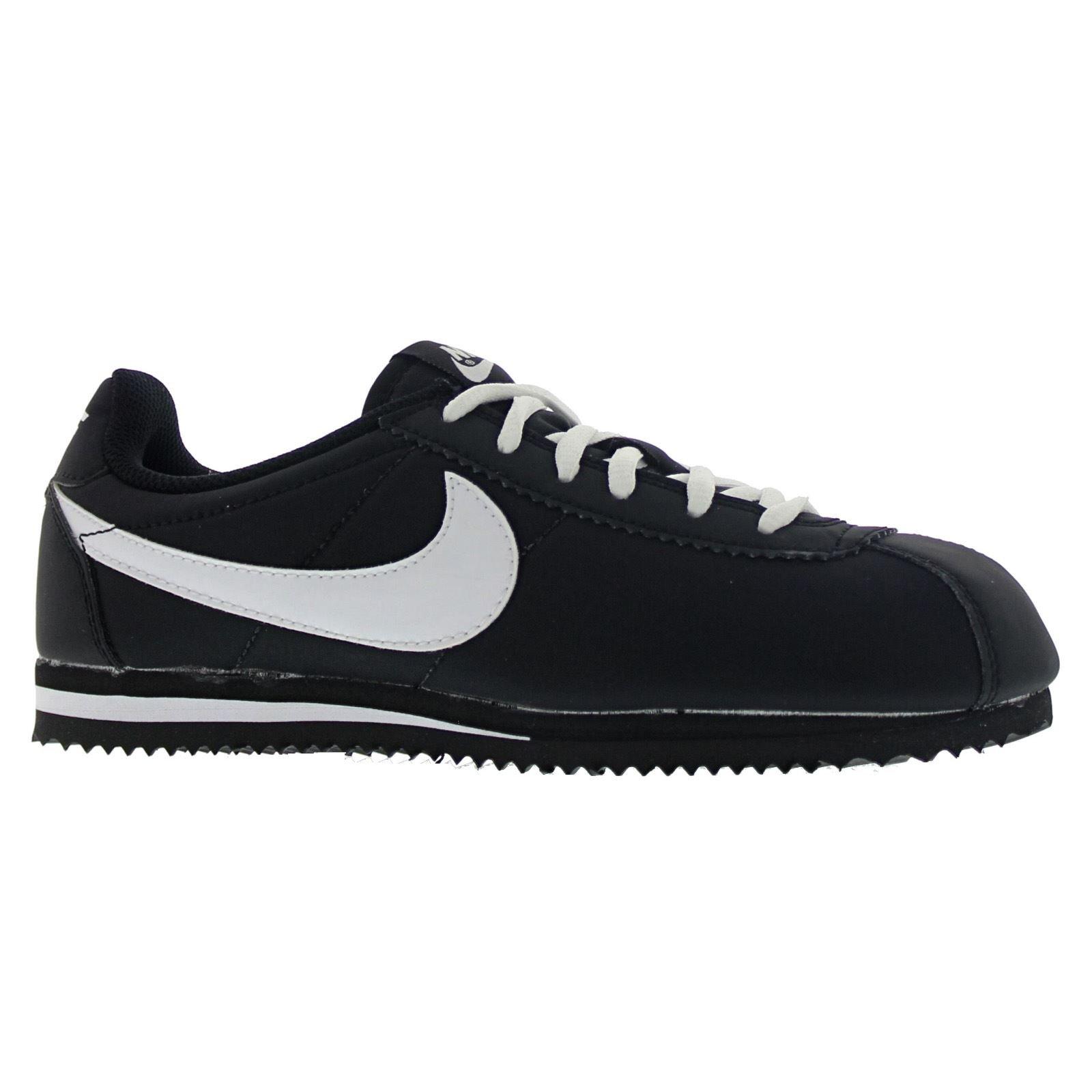 Nike Cortez Nylon (GS) Trainers 749493 Sneakers Shoes (6.5 Big Kid M, Black White 001)