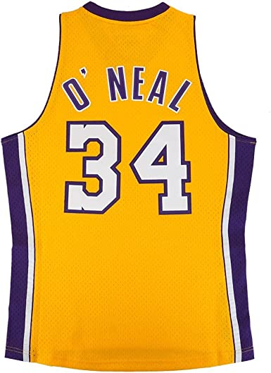NBA Los Angeles Lakers Shaquille ONeal Hardwood Classics Home Swingman Jersey