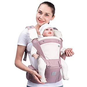 Bebamour New Style Designer Sling and Baby Carrier 2 in 1,Approved by U.S. Safety Standards (Light Pink)