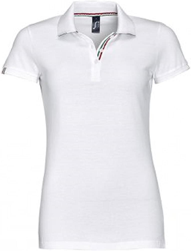 absab ltd Polo - Para Mujer Rojo White Red XX-Large: Amazon.es ...