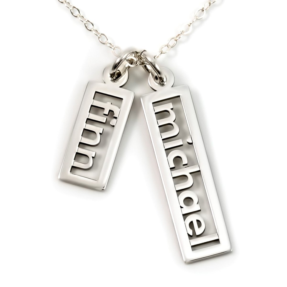 AJ's Collection Personalized Necklace Open Double Sterling Silver or 14k Gold Plate over Sterling Silver (20)