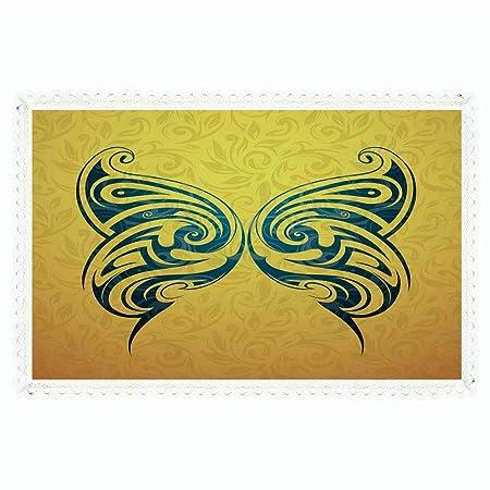 iPrint Tatuaje Decoración, rectangular poliéster lino mantel ...