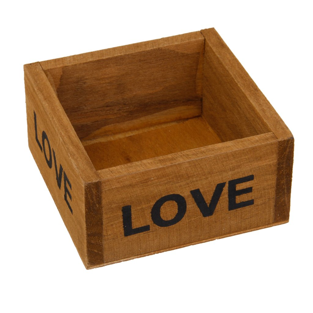 Generic Rustic Natural Wooden Succulent Plant Flower Bed Pot Box Case Garden Planter