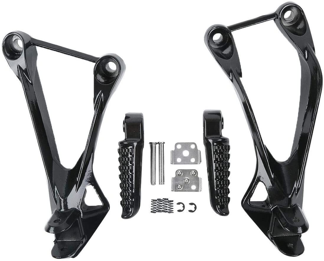 TCT-MT Rear FootPegs Footrest Bracket Fit For Kawasaki Ninja ZX-6R 6R 2005-2008 ZX636 05-06
