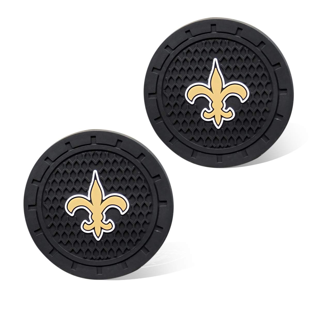 Cleveland Browns Wall Stickz wesport 2.75 Inch Diameter Oval Tough Car Logo Vehicle Travel Auto Cup Holder Insert Coaster Can 2 Pcs Pack