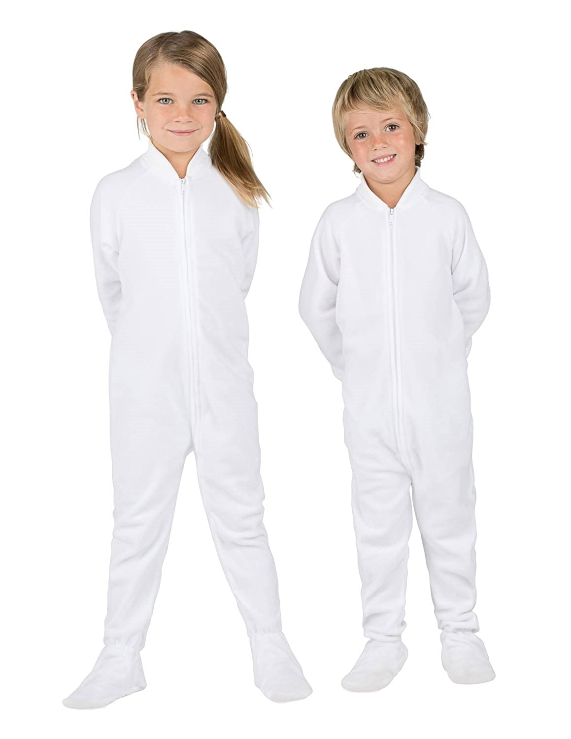 Footed Pajamas - Arctic White Toddler Fleece
