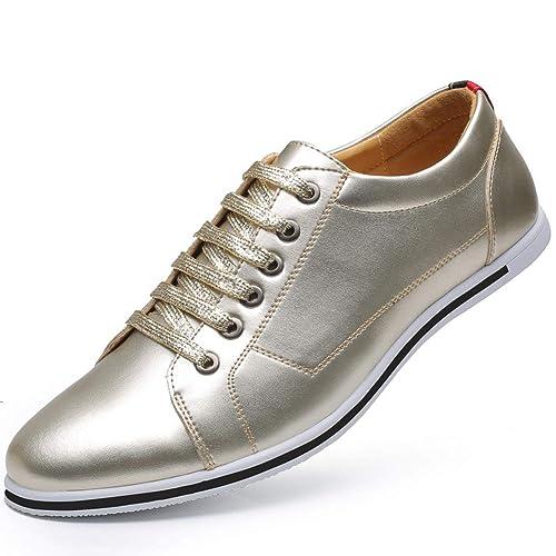 lowest price 5f43e df625 Cordones de Cuero Suave de los Hombres Zapatos urbanos Grandes Zapatos para  Caminar Casuales Transpirable Zapatos Antideslizantes  Amazon.es  Zapatos y  ...