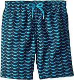 Vilebrequin Kids Boy's Poissons Hamac Swim Trunk (Big Kids) Blue 14 Years