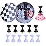 Kalolary 1 Set Nail Art Holder Practice Stand for Nail Art Display, Magnetic Nail Stand Tips Holders Crystal Holder…
