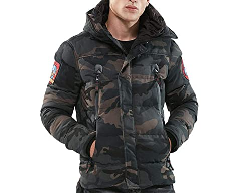 Parka Men Winter Jackets Cotton Chaquetas Hombre Camo Overcoat Mens Casual Camoufla,Camo Gray,