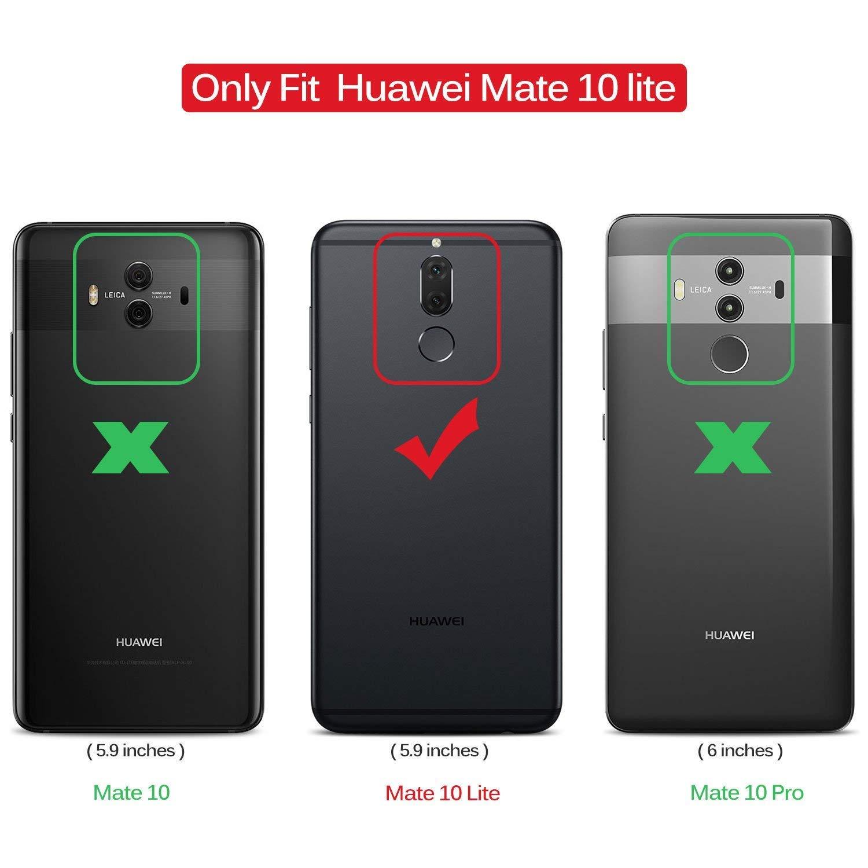 Alsoar/®Coque Compatible pour Huawei Mate 10 Lite,Ultra-Mince Silicone Housse Anti Empreintes digitales Etui Anti-Rayures de Protection Souple en TPU Fibre de Carbone Anti-Choc Souple