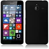 SDO™ Luxury Matte Finish Rubberised Slim Hard Case Back Cover for Microsoft Lumia 640XL - Black