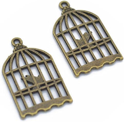 wholesale lots Tibetan Silver Birdcage Charms Lead-Free