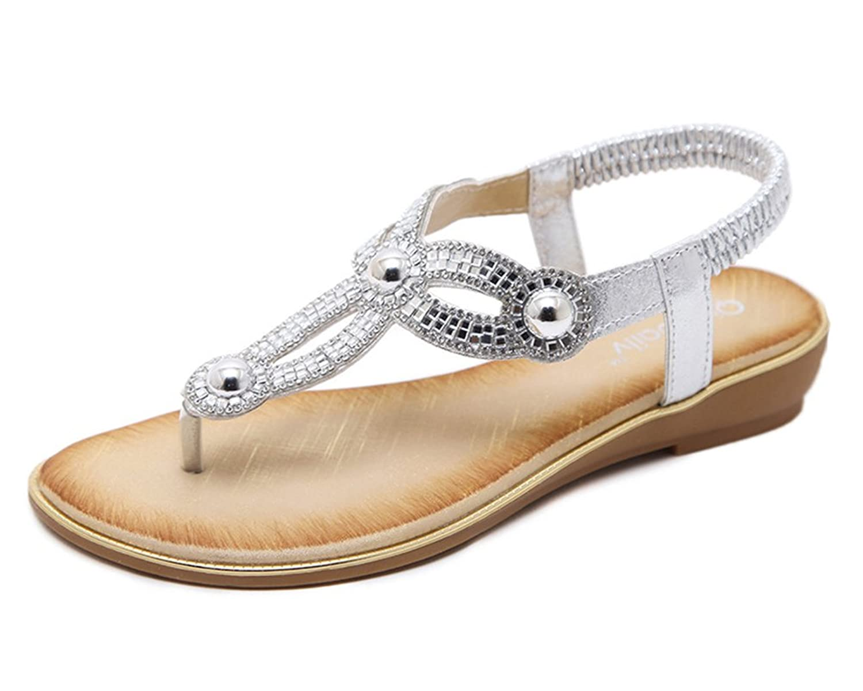e8f639f4 Mejor Sandalias Planas Mujer Rhinestones Flip Flops Sandalias Bohemio  Zapatos
