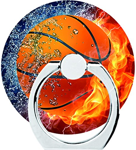 Eprocase Basketball Fire Phone Ring Holder with 360 Rotation - Phone Grip Finger Ring Stand for Smartphones and Tablets