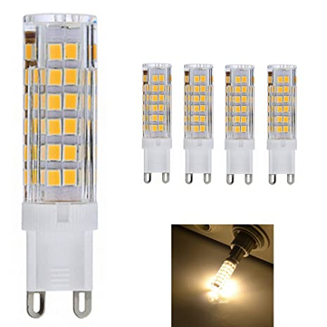 5 Pack G9 Bombilla LED 7W 33 SMD 2835 Lámpara Bombilla 550 lumen 3000K Luz Blanco