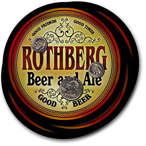 Rothbergビール& Ale – 4パックドリンクコースター   B003QX8TKQ