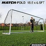 QuickPlay Match-Fold Soccer Goal (18.5 x 6.5') with 2YR Warranty