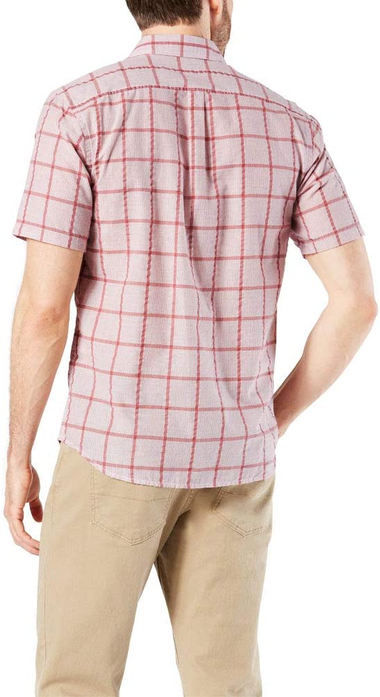 Dockers Mens Short Sleeve Performance Seersucker Shirt: Amazon.es: Ropa y accesorios