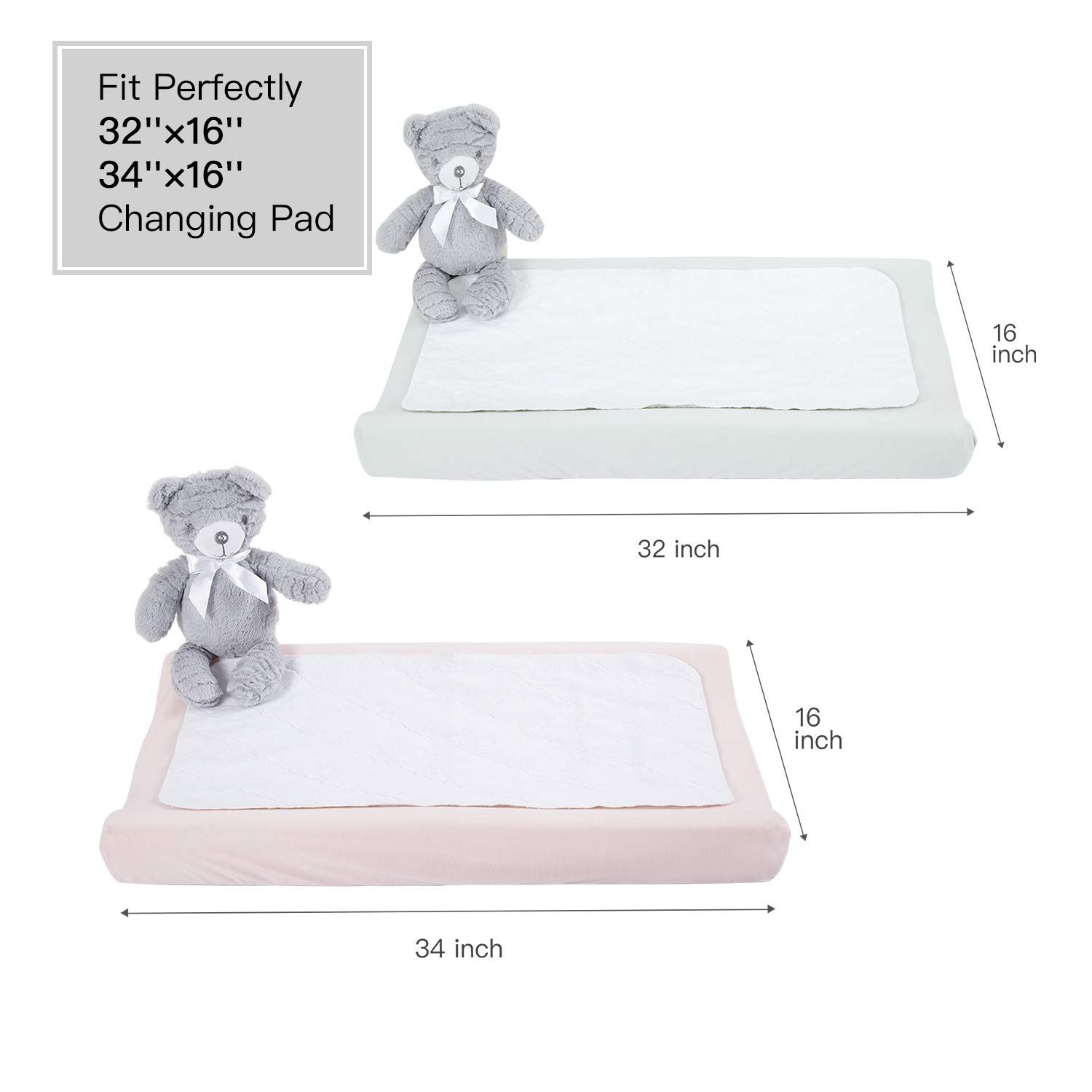 TILLYOU Jersey Knit Stretchy Changing Pad Cover-Cradle Sheet Unisex Change Table Sheets for Baby Girls and Boys-32//34x 16-Ultra Soft Cozy Hypoallergenic-Peachy Pink