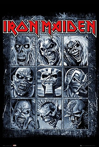 Iron Maiden - Music Poster/Print (Eddies/Collage) (Size: 24 inches x 36 - Maiden Collage