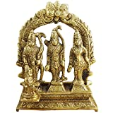 Hindu Gods and Goddesses - Lord Rama Laxman and Sita Religious Indian Art Sculpture - 3.1'' x 3'' x 1''