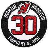 Martin Brodeur New Jersey Devils #30 Retirement Game Ceremony Jersey Patch Emblem 2016