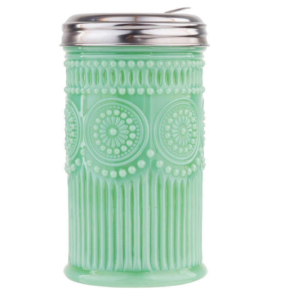 Jadeite Glass Sugar Shaker w/Screw-On Metal Cap Collectible Holds 10 Ounces by TABLECRAFT PRODUCTS CO