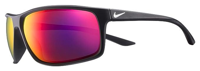 5094eaff78 Nike Eyewear Men s Nike Adrenaline M Rectangular Sunglasses MATTE  BLACK WHITE 66 mm