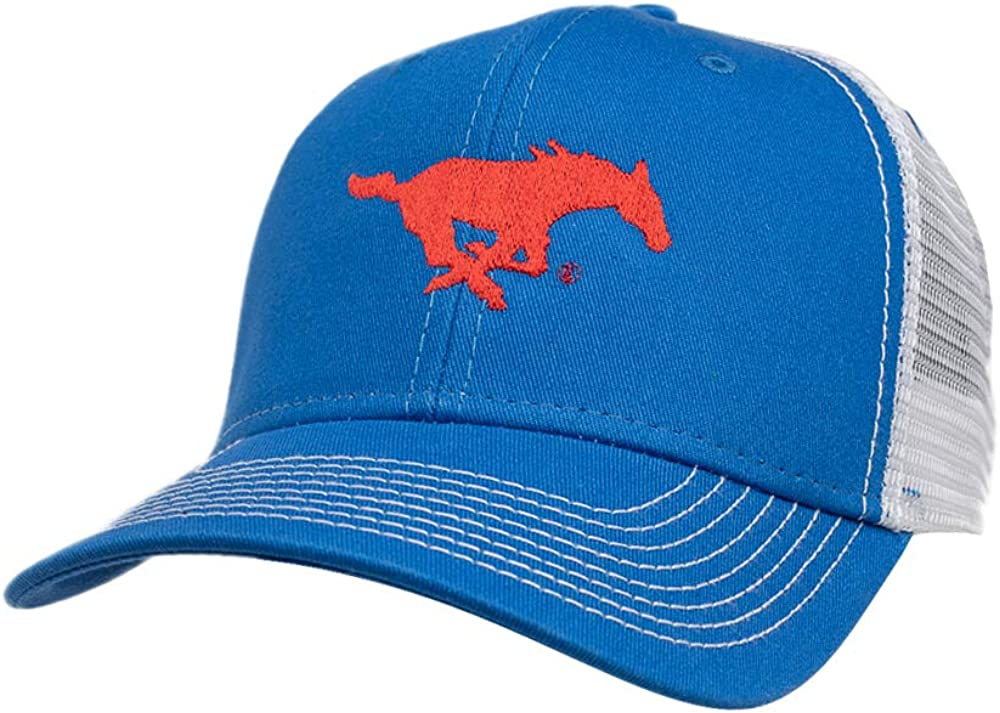 Ouray Sportswear NCAA SMU Mustangs Sideline Cap Royal//White Adjustable