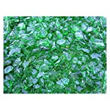 * Perfect for use in fireplaces, fire pits or in decorative applications * 100% recycled decorative glass * Green * 10 lbs