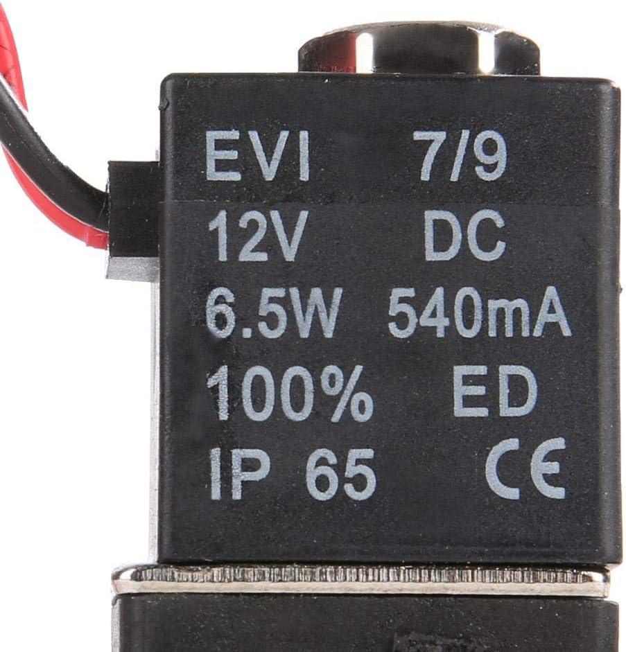 1//8 NPT 2 Way Plastic Electric Solenoid Valve NC Normally Closed DC12V Solenoid Valve