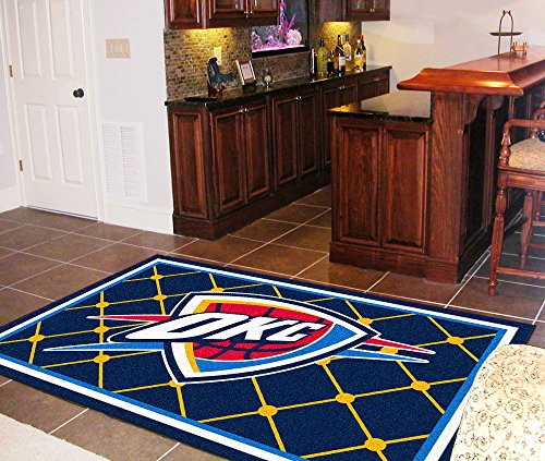 FANMATS NBA Oklahoma City Thunder Nylon Face 5X8 Plush Rug by Fanmats (Image #1)