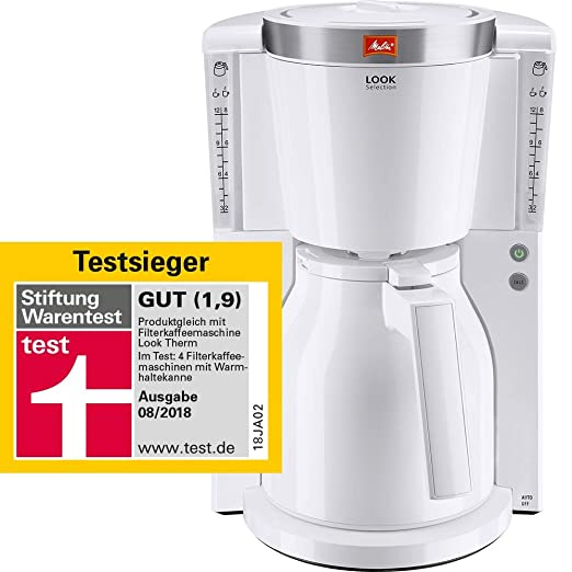 Melitta Look Therm Selection - Cafetera de goteo, 1000 W, color blanco
