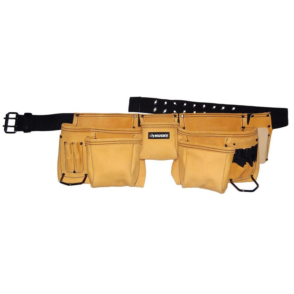Husky Top Grain Leather Work Apron by Husky
